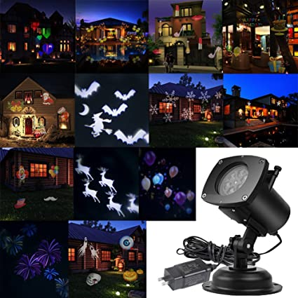 actopp christmas projector lights outdoor holiday light projector with 121 switchable pattern lens led - Christmas Projector Outdoor