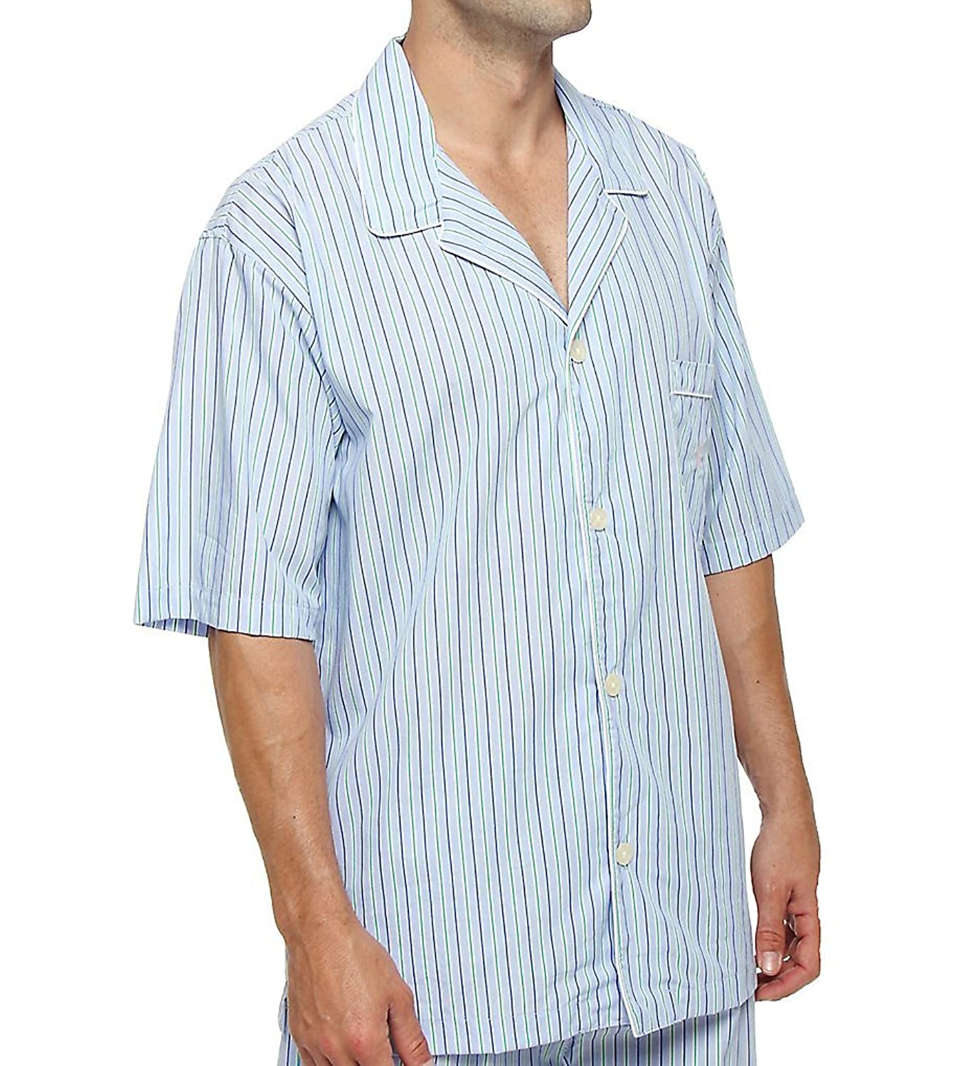 Polo Ralph Lauren 100% Cotton Woven Short Sleeve Sleepwear Top (P757) at Amazon Mens Clothing store: Ralph Lauren Pijama