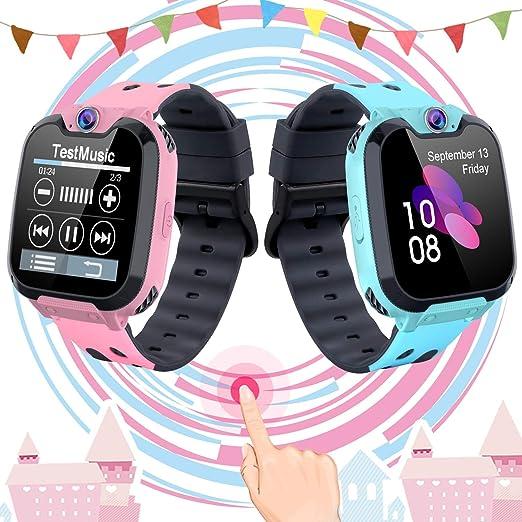 Smartwatch para Niños con Juegos MP3 - Reloj Inteligente Pulsera con 2 vías Llamada Música Despertador 7 Juegos Cámara de Infantil Reloj Digital para ...