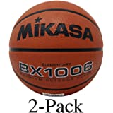Mikasa Youth Basketball Ball Ultra Grip Rubber Cover Size 4 Elementary (2-Pack)