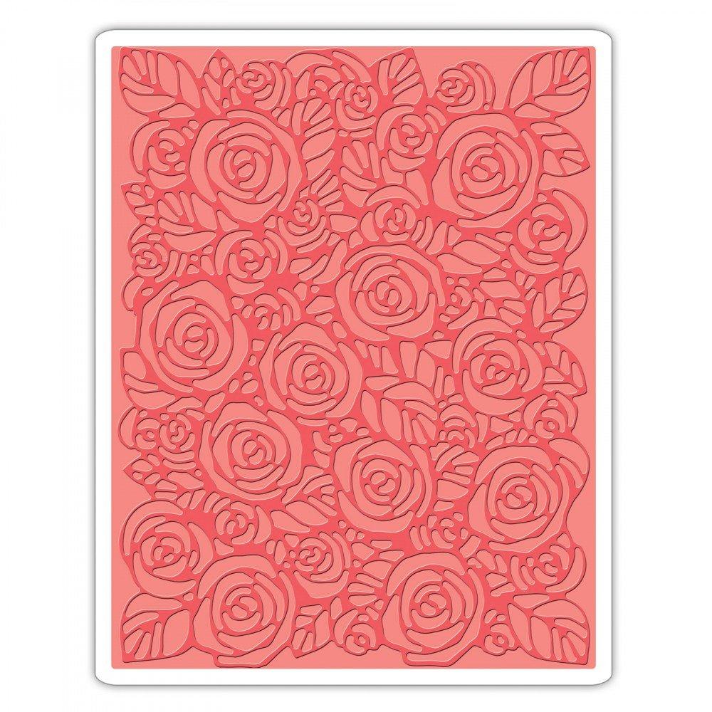 Sizzix 661829 Texture Fades Embossing Folder Roses Ellison