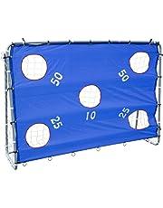Sfeomi Porta da Calcio in Nylon ad Alta Resistenza e Tubi in Acciaio Rivestito in Polvere Obiettivo di Calcio per Ragazzi Bambini per Allenamento Obiettivo di Calcio