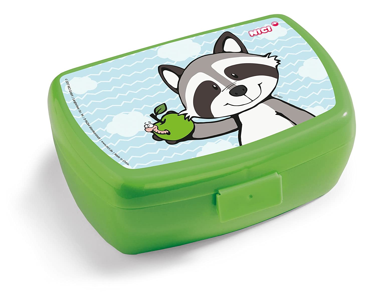 Nici 41874 Forest Friends Brotdose mit Waschbär Rod, 17 x 12 x 6.8 cm