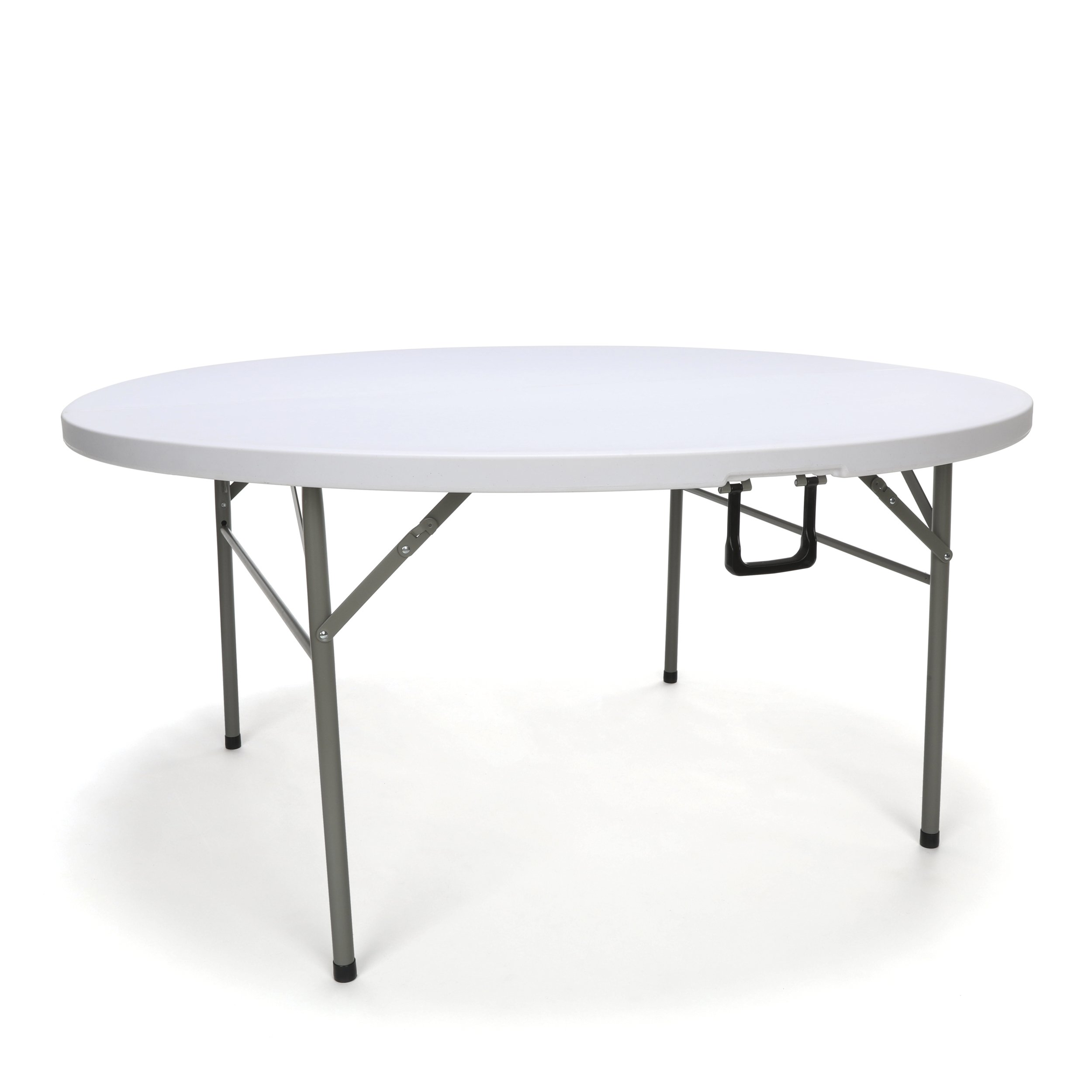 Essentials Multipurpose Folding Utility Table - Sturdy Card/Conference/Office/Craft Center Folding Plastic Table, 60'' Wide, 60'' Length, White (ESS-5060RF)
