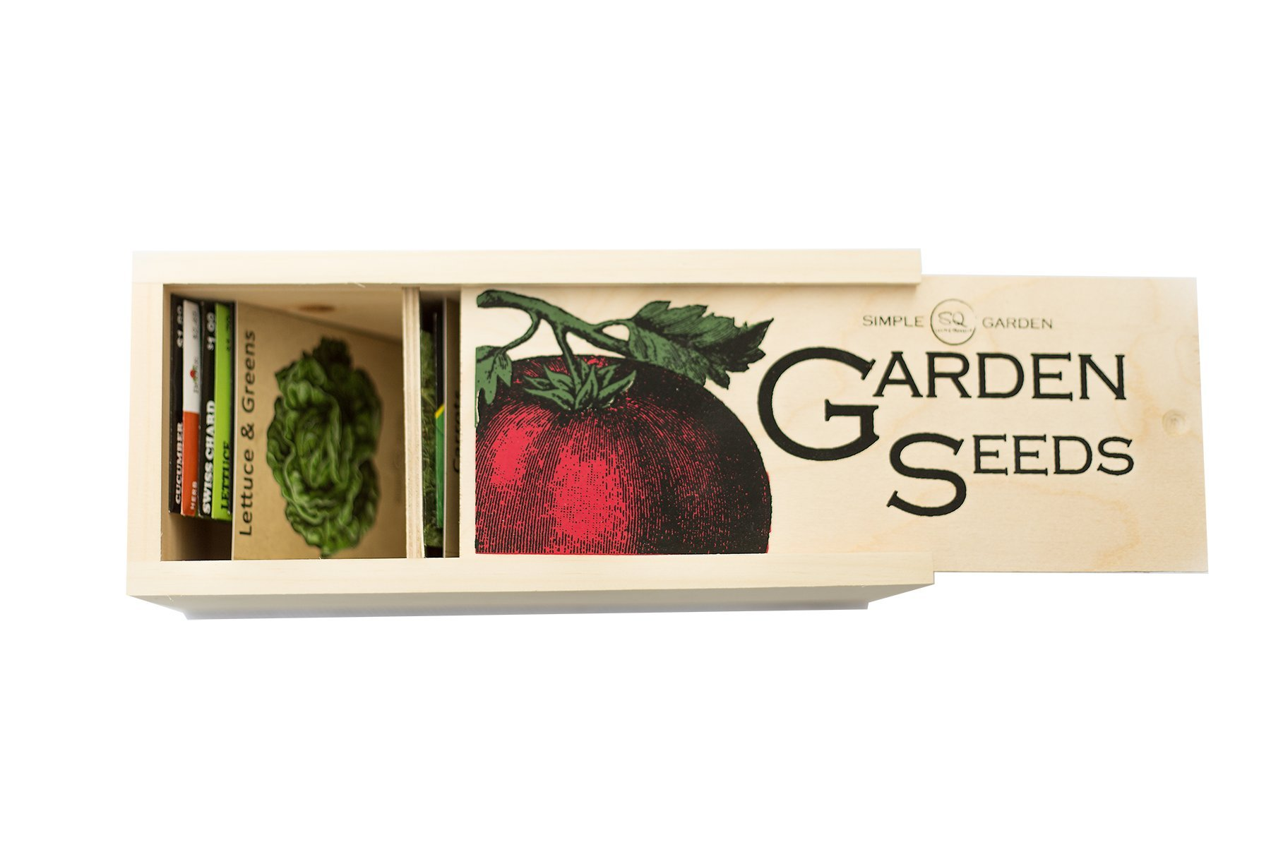 Seed Storage and Organizer Box for Your Garden Seed Packets - New - Tall Size -11.75 L 5.1 Wide 6.5 H - Expertly Crafted in The U.S.A. with Vintage Style Divider Cards to Organize Seeds by Simple Quality (Image #3)