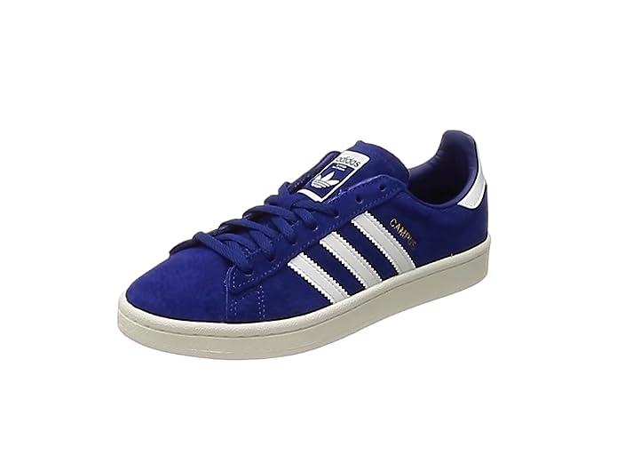 Blaue Damen adidas Campus Sneaker mit weißen Streifen