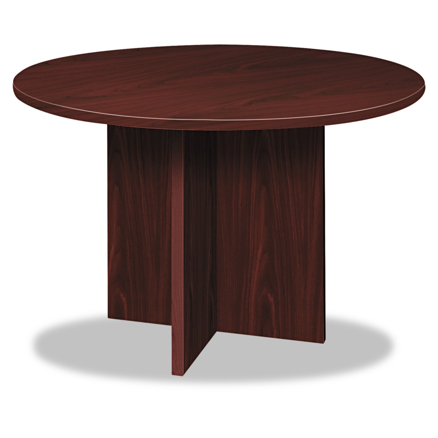 Basyx BLC48DNN BL Laminate Series Round Conference Table, 48 by 29.5-Inch, Mahogany by Basyx