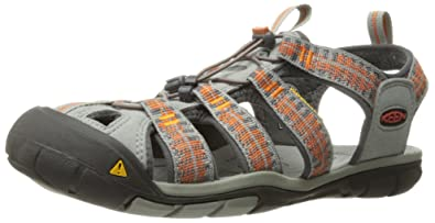 Keen Clearwater CNX M, Sandales Plateforme Homme, Orange (Sunset/Marigold), 44 EU