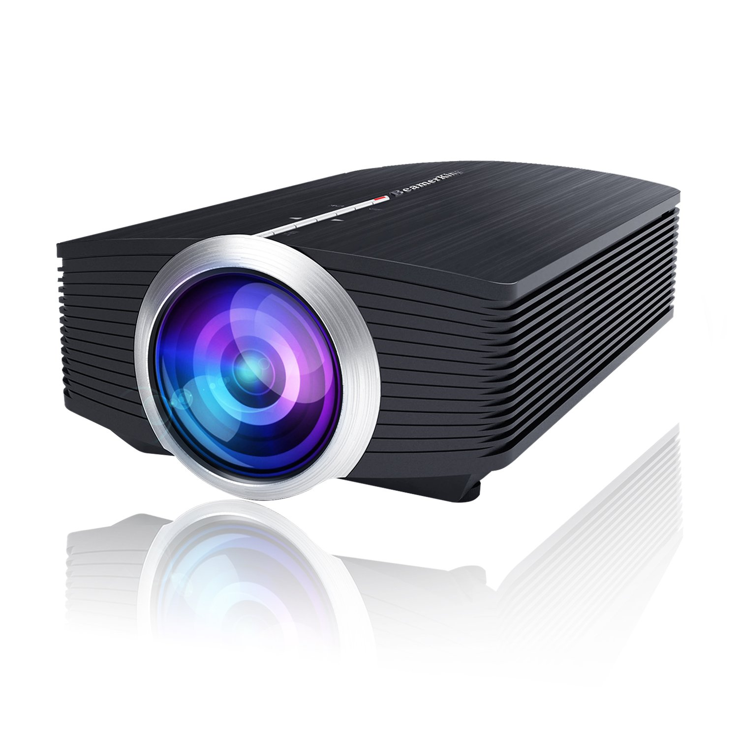 BeamerKing WS510 Video Projector 1800 Lumens Portable Movie Projectors with Stereo Speaker Support 1080P Full HD to PS4 Xbox PC Laptop USB Smartphone for Gaming Parties Home Cinema Movies