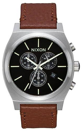 Leder Uhr A1164 1037 Nixon 00 Armband Quarz Herren Chronograph Mit 0kOP8nXw