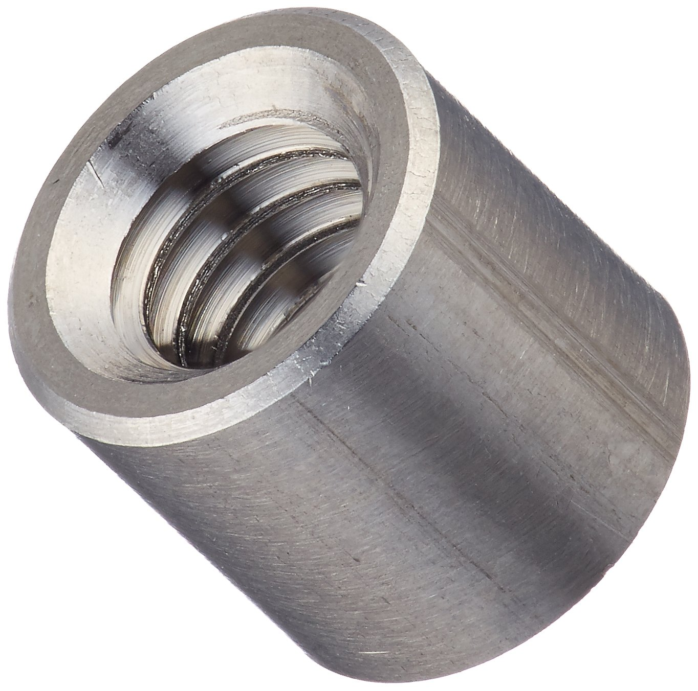 Round Standoff, Stainless Steel, Female, #8-32 Screw Size, 0.25'' OD, 0.25'' Length, (Pack of 10) by Small Parts