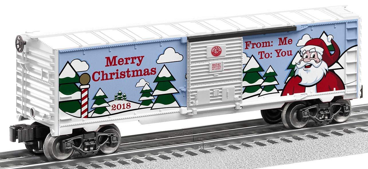 Lionel 684747 2018 Christmas Boxcar, O Gauge, Green, Red, White, Black B07D1M12BK
