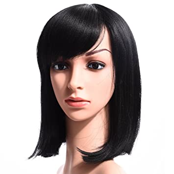 Amazon Com Silike Synthetic Medium Length Straight Bob Wigs