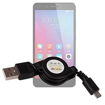 DURAGADGET Cable MicroUSB Retráctil para Smartphone Huawei Honor ...