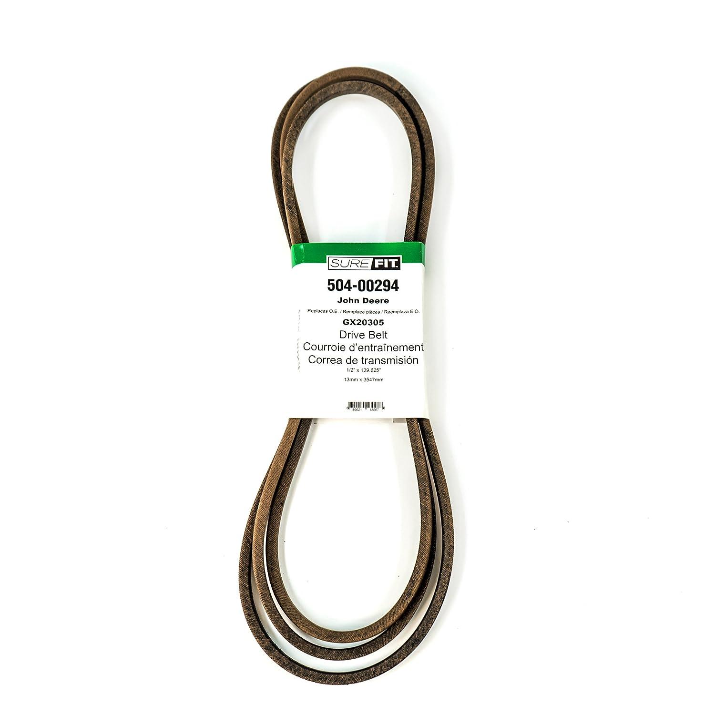 John Deere GX20305 Replacement 1//2 x 139.625 Drive Belt