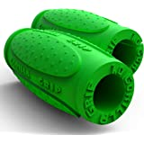 Gorilla Grip 1.0 Weightlifting Thick Grips - Fitness Accessory for Barbells, Dumbbells - Rapidly Strengthen Forearms, Biceps, Chest & Triceps - Cross Training, Bodybuilding and Strongman