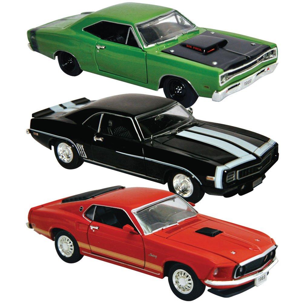 Amazon.com : (Set of 3) Legendary 1969 Muscle Car 1/32 Die Cast ...
