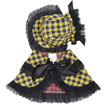 Yuno - Vestido para perro, cachorro, ropa de estilo clásico, para la temporada