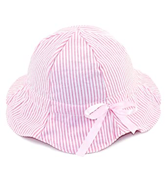 Baby Girl Toddler Sun Hat Baby Summer Sun Protection Bucket Hat with Chin  Strap 9427633c4d44