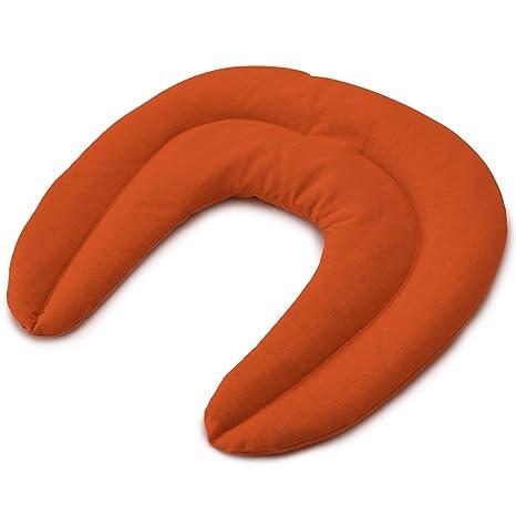 Coussin aux graines de colza Bouillotte micro-ondes orange Coussin /épaules et cou Coussin de nuque avec col montant