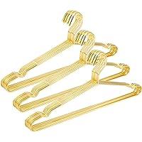 "Jetdio 17.7"" Strong Metal Wire Hangers Clothes Hangers, Coat Hanger, Standard Suit Hangers, Ideal for Everyday Use, 30…"