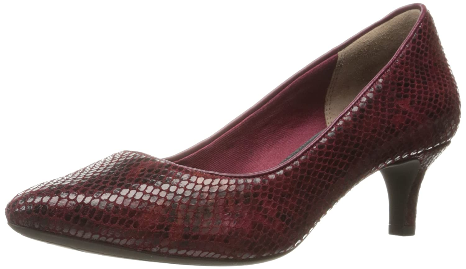 Rockport Women's Total Motion Kalila Dress Pump B01ABS0LJU 9 B(M) US|Cabernet Multi Snake
