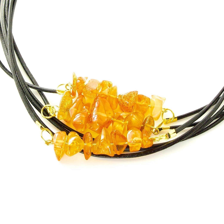 Roher natürlicher baltischer Bernstein-Halsketten-Halsreif von presentSpresent