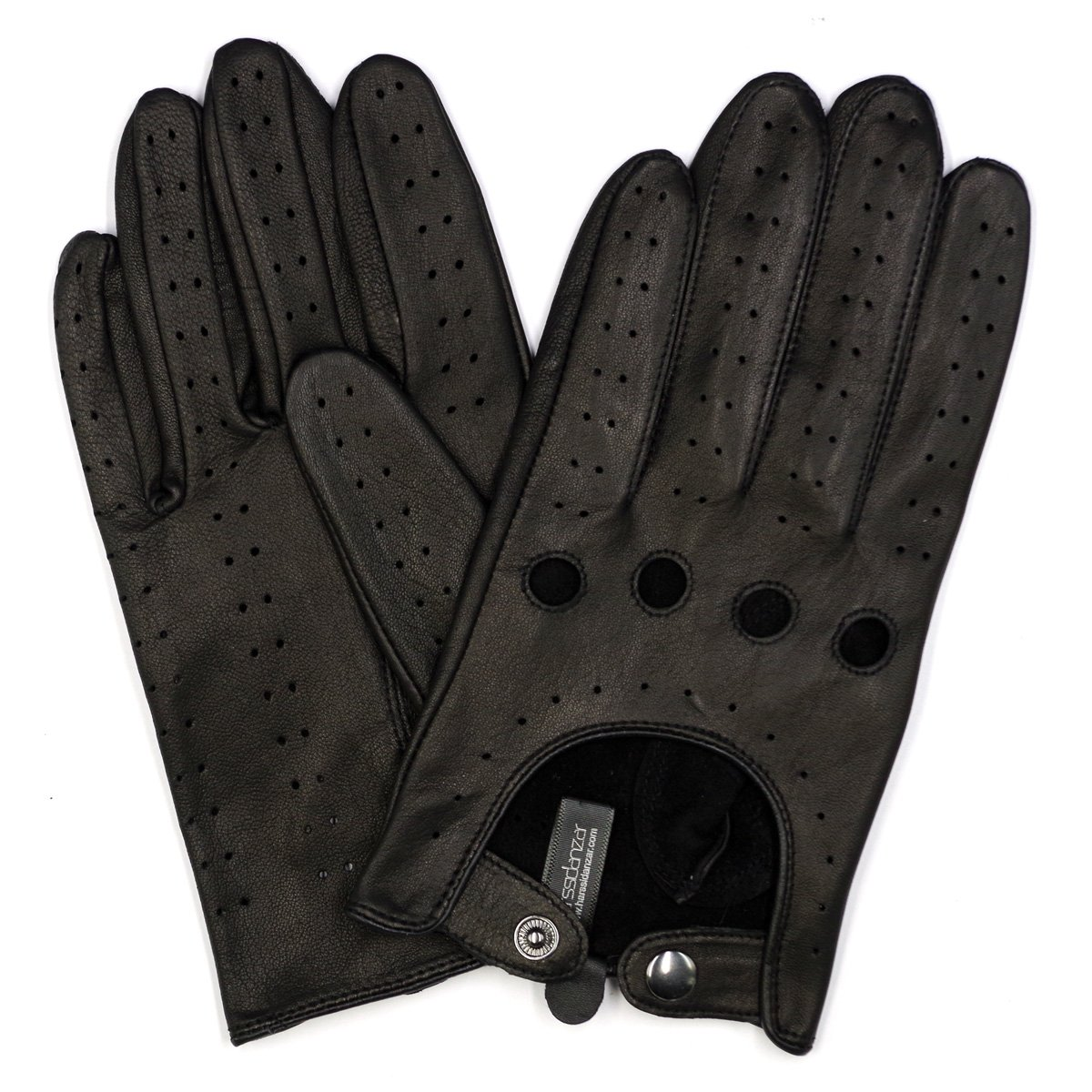 Harssidanzar Mens Leather Driving Gloves Unlined Touchscreen