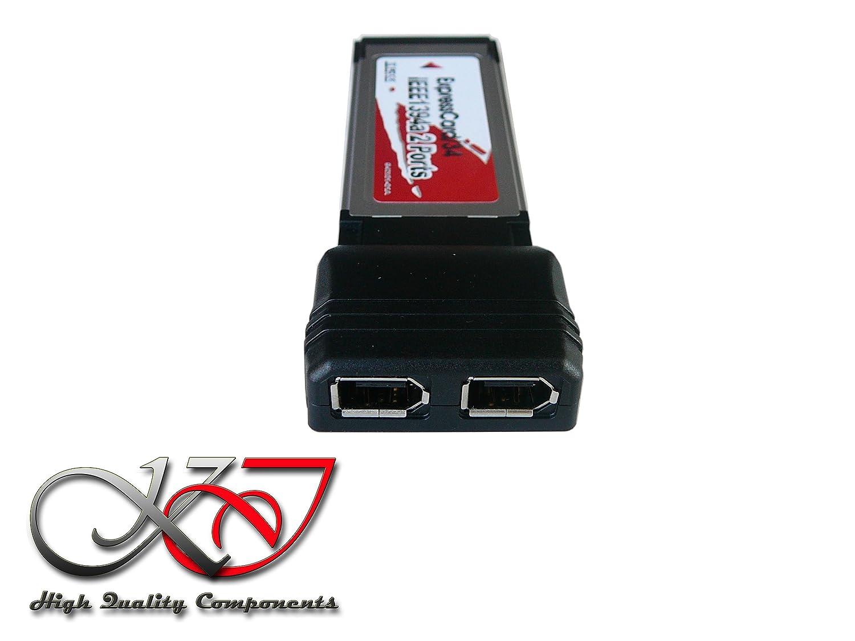 Tarjeta controlador ExpressCard 34 Firewire 400 IEEE1394 a KALEA-INFORMATIQUE Compatible tarjeta sonido externa con Chipset TI xio2200