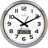 Acctim 74447 Meridian Radio Controlled Wall Clock, Aluminium