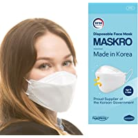 [10Pack] [MASKRO] - Certified KF94 Face Mask ; Premium 4Layer Filters Disposable Face Mask for Protection from Fine Dust…