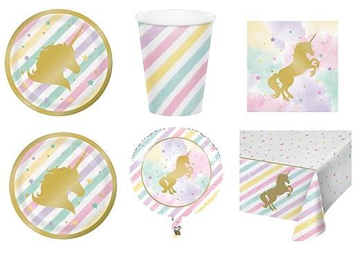 Vajilla para niños Unicorn Sparkle Pony dorada. Para ...