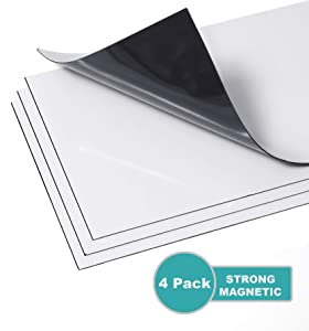 Zipcase Strong Magnetic Floor Vent Covers Thick Magnet for Standard Air Registers - for RV, Home HVAC, AC and Furnace Vents, 5.5 inch X 12 inch, 4 Pack, Pure White