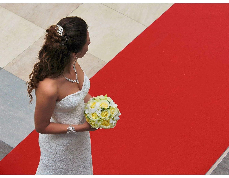 Schwer Entflammbarer Messeteppich Roter Teppichl/äufer 1.50m x 6m VIP Eventteppich 2,6mm H/öhe Hochzeitsl/äufer Hochzeitsteppich Gangl/äufer