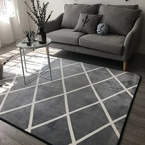 Outstanding Amazon Com Yxx Max Carpet Carpet Black Gray Plaid Sofa Ocoug Best Dining Table And Chair Ideas Images Ocougorg