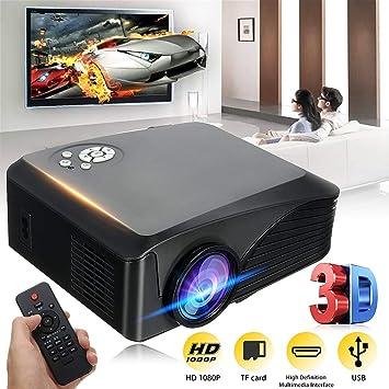 1080P HD 7000 Lúmenes Proyector Led 3D Multimedia Cine Teatro USB ...