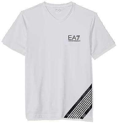 7a45a8ffa178 EA7 Emporio Armani Active Men s Train 7 Lines V-Neck T-Shirt