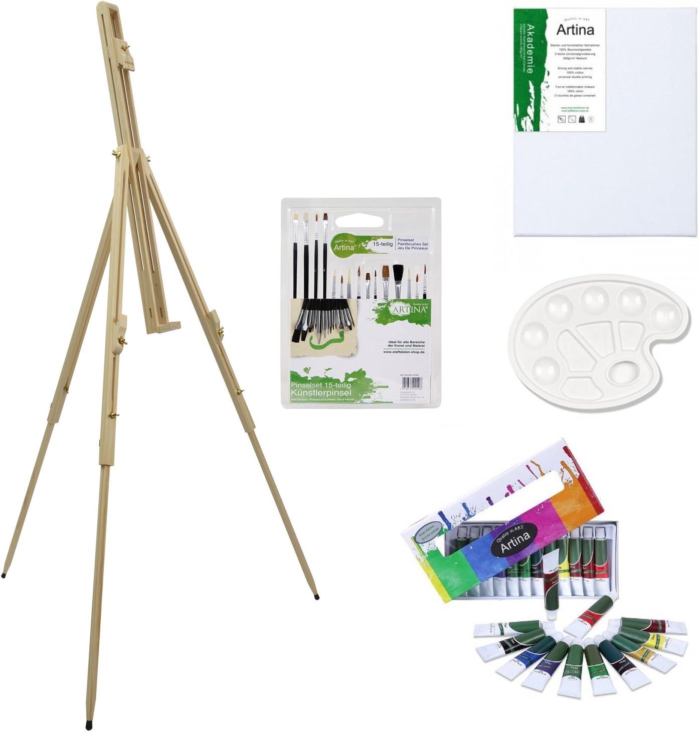 Feld Staffelei Sets 19,99 bis 24,99 Euro mit  Farbe Leinwand komplette Sets