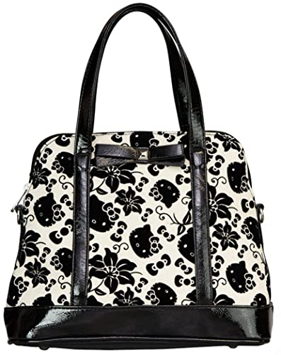 Loungefly Hello Kitty Black   Cream Floral Bag  Handbags  Amazon.com 6133734fc6377