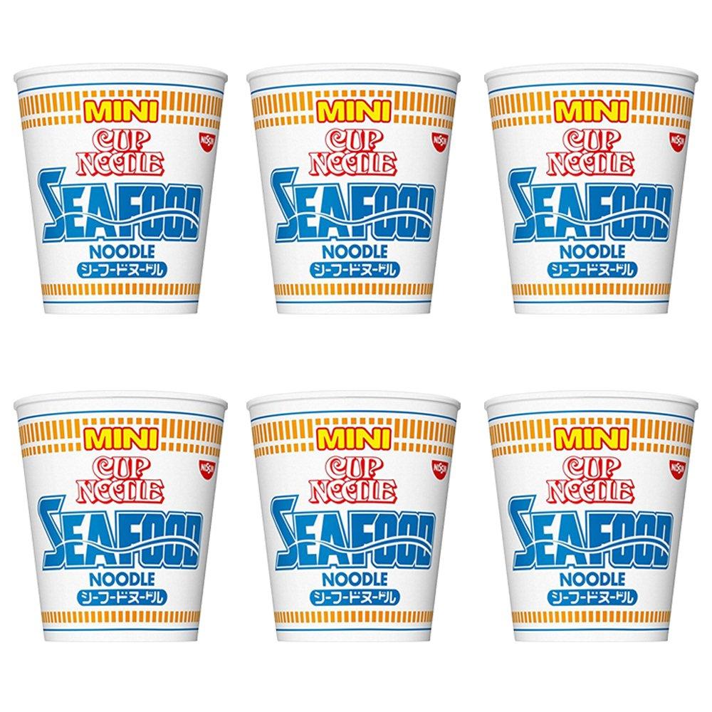 Cup Noodle Seafood Mini 1.3oz 6pcs Set Nissinn Japanese Instant Ramen Ninjapo