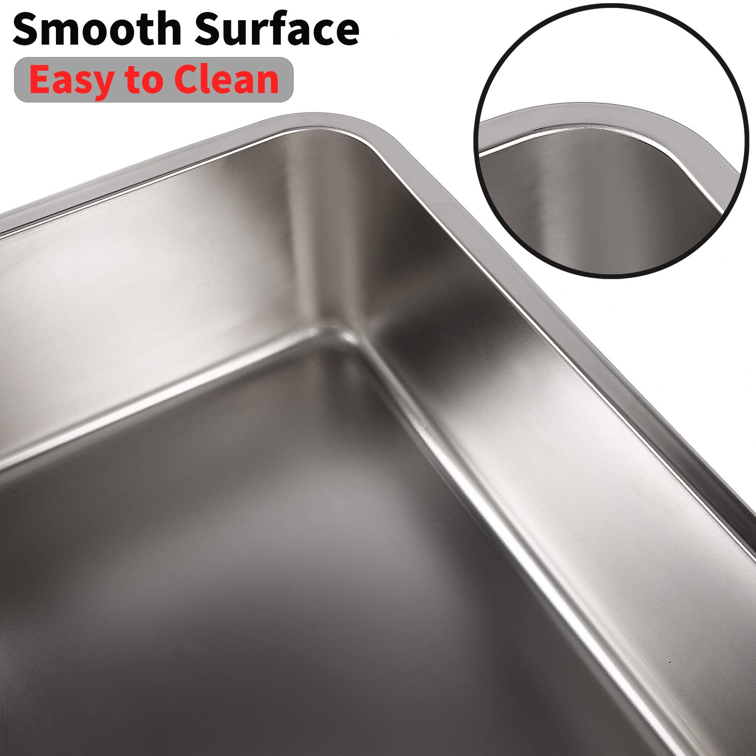 Amazon.com : Yangbaga Stainless Steel Litter Box for Cat and Rabbit, Odor Control Litter Pan, Non Stick Smooth Surface, Easy to Clean, Never Bend, ...