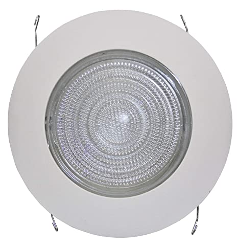 """quality design 6ded5 2c4a4 6"""" INCH RECESSED CAN LIGHT SHOWER TRIM CLEAR GLASS FRESNEL LENS - 6 PACK"""