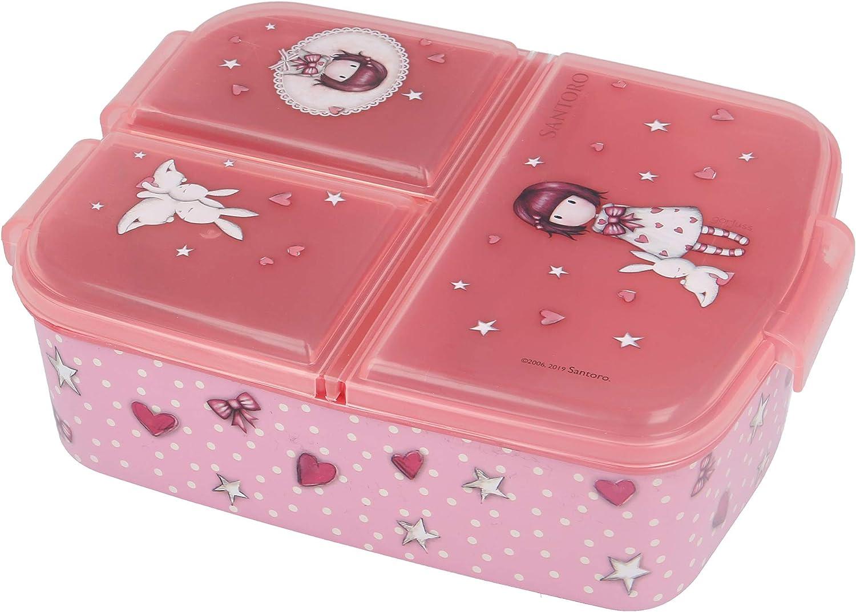 Stor GORJUSS   Sandwichera con 3 Compartimentos para niños - lonchera Infantil - Porta merienda - Fiambrera Decorada
