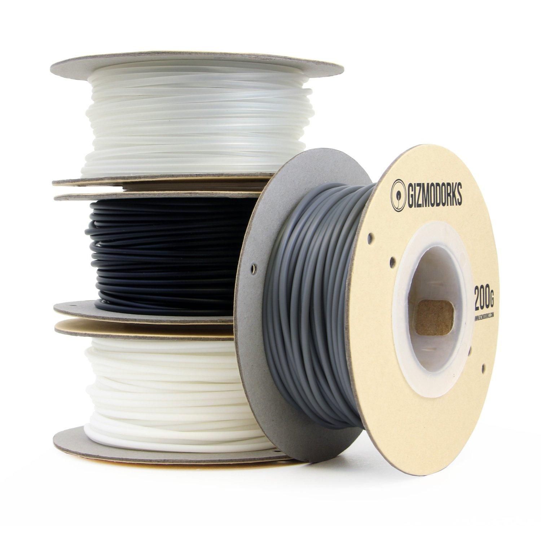 White Gizmo Dorks ABS Filament for 3D Printers 1.75mm 200g