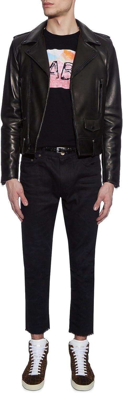 Leather Lovers Mens Lambskin Leather Motorcycle Biker Jacket
