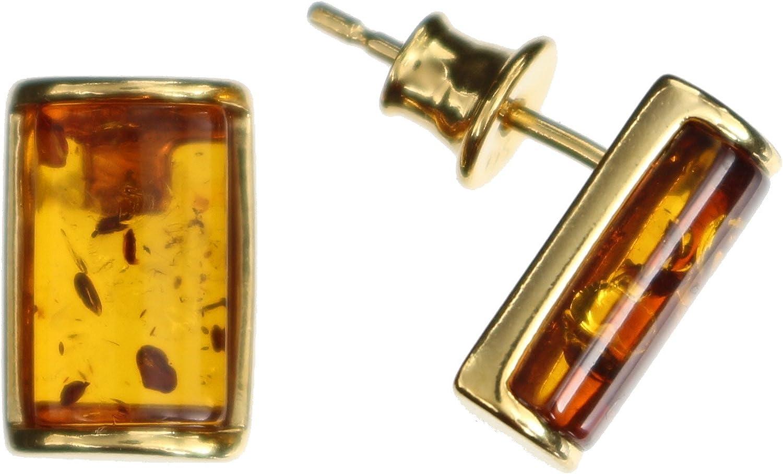 Pendientes Natural ámbar de Arti Sana–, längliche Pendientes Capacidad 925/000Plata de ley dorado