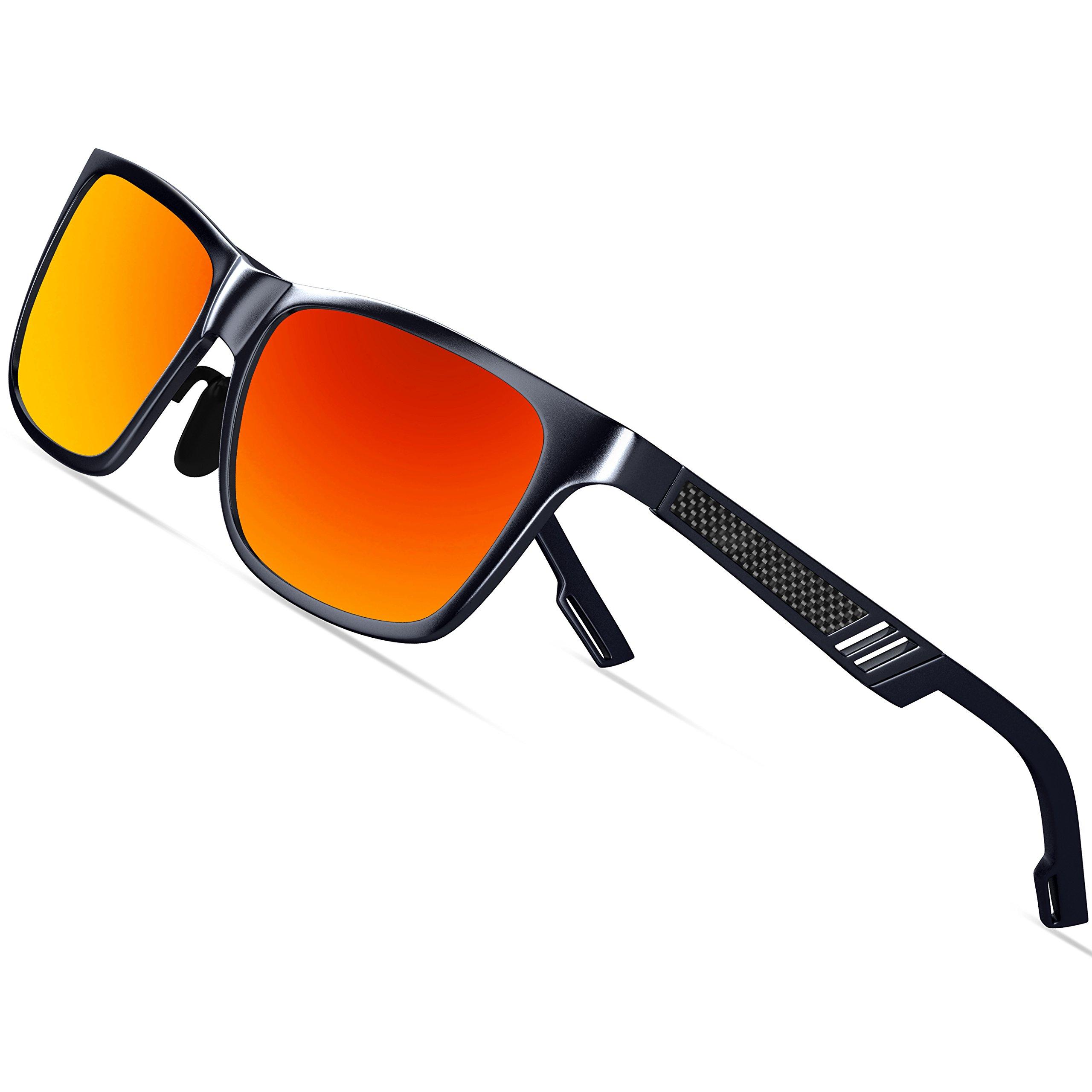 KITHDIA Men's Retro Metal Frame Driving Polarized Wayfarer Sunglasses Al-Mg Metal Frame Ultra Light #6560