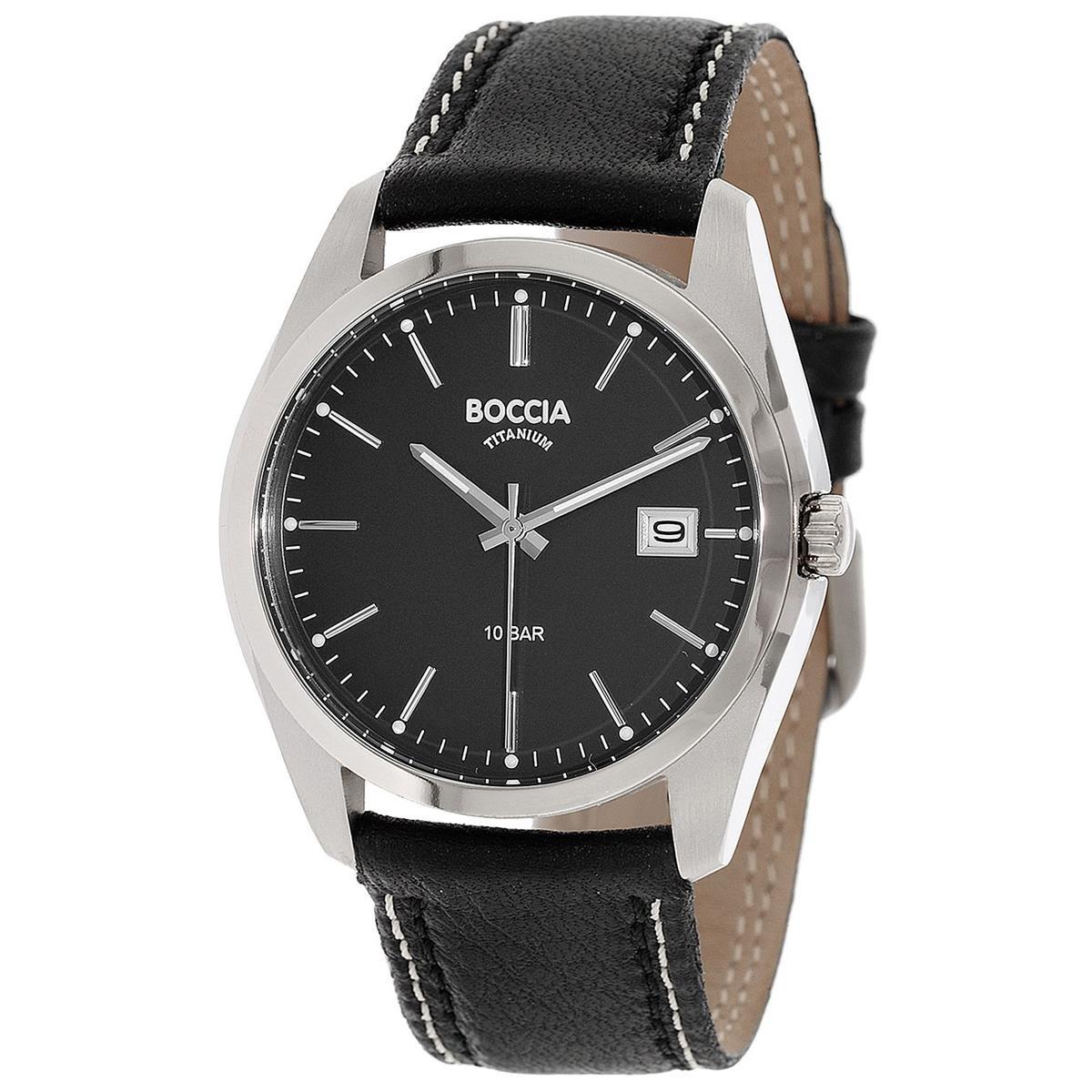 Boccia Reloj Digital para Hombre de Cuarzo con Correa en Cuero 3608-02
