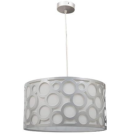 Lámpara colgante orlando blanco/plata: Amazon.es: Iluminación