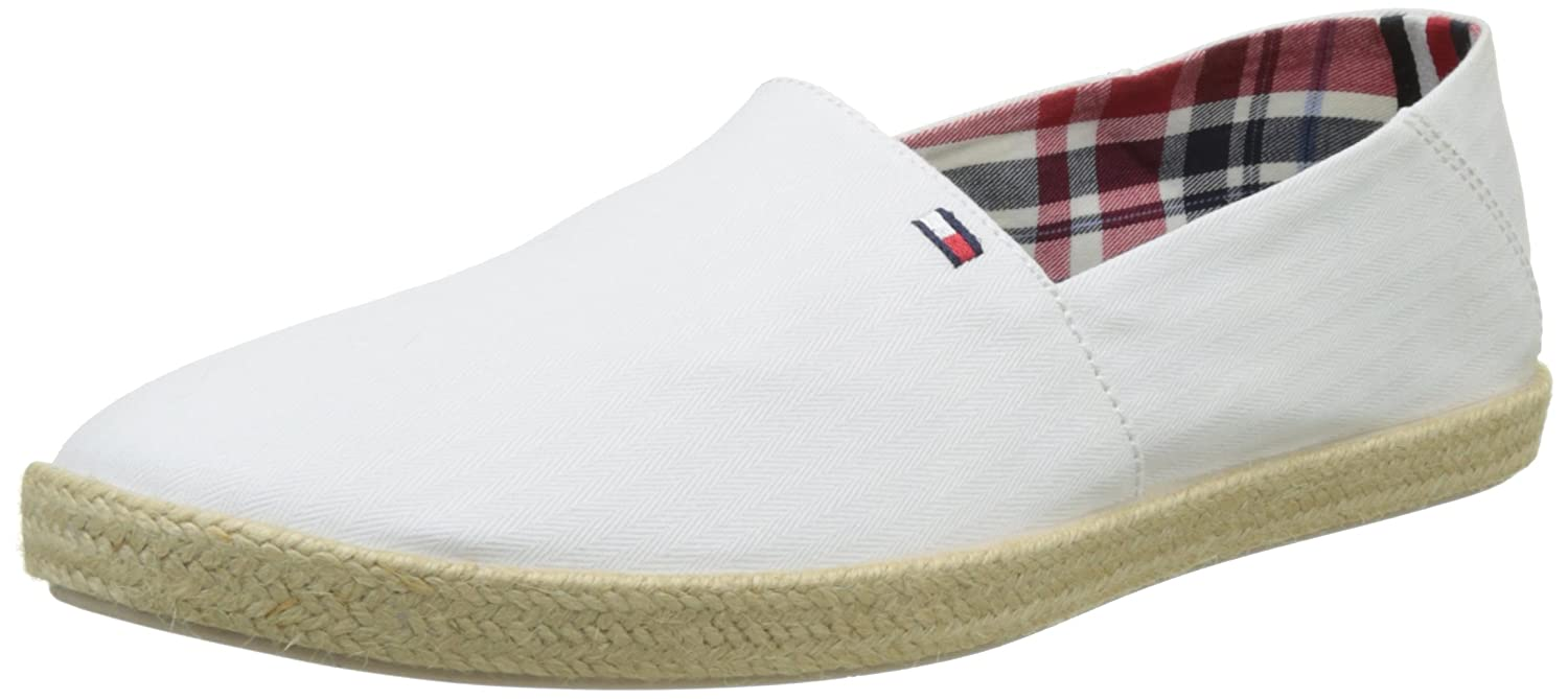 Easy Summer Canvas Slip On Espadrilles in White - White Tommy Hilfiger CE9XWcbjyg